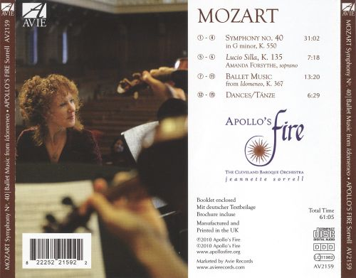 Mozart: Symphony No. 40; Ballet Music from Idomeneo