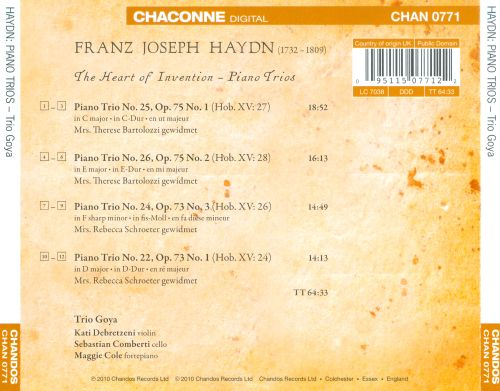 The Heart of Invention: Piano Trios by Haydn