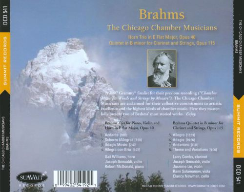 Brahms: Chamber Music for Winds & Strings