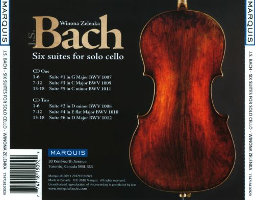Bach: Six Suites for Solo Cello