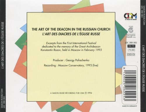 The Art of the Deacon in the Russian Church