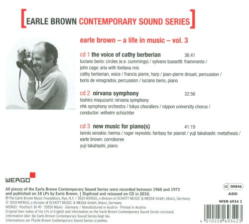 Earle Brown Contemporary Sound Series Vol. 3: The Voice of Cathy Berberian