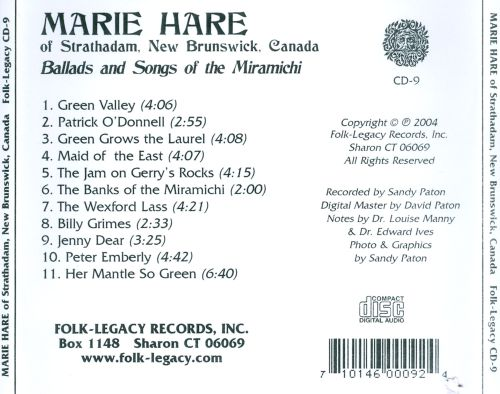 Ballads and Songs of the Miramichi