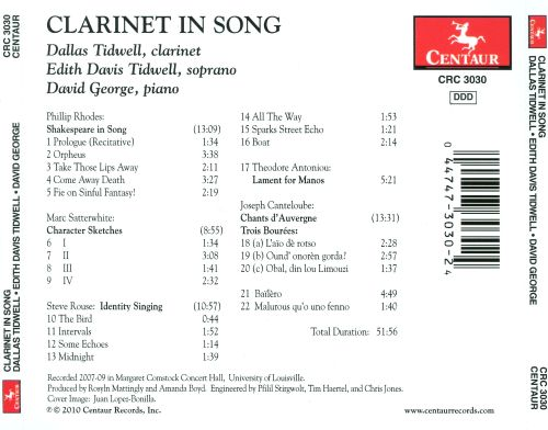 Clarinet in Song