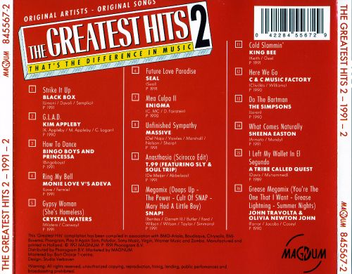The Greatest Hits 2: 1991, Vol. 2