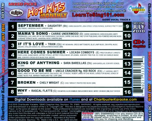 Hot Hits Monthly Mixed Picks: July 2010