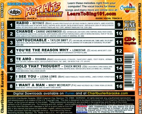 Hot Hits Monthly Mixed Picks: June 2010