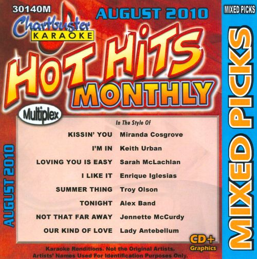 Karaoke: Country and Pop Mixed Picks - August 2010