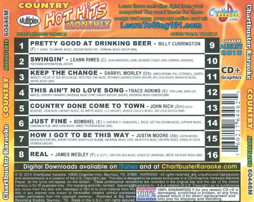 Karaoke: Hot Hits Country - August 2010