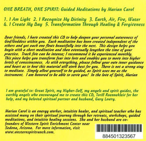 One Breath, One Spirit: Guided Meditations