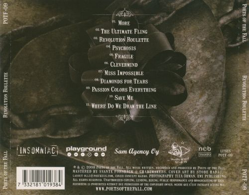 Poets of the fall revolution roulette album download c & s lumber roulette pa
