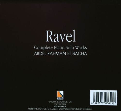 Ravel: Complete Piano Solo Works