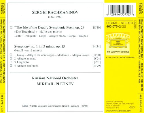 Rachmaninov: Symphony No. 1; The Isle of the Dead