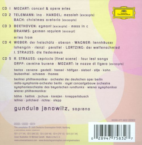 Gundula Janowitz: Golden Voice [United Kingdom]