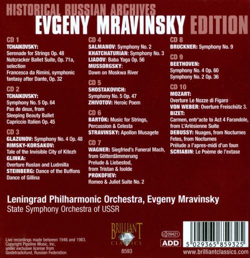 Historical Russian Archives: Evgeny Mravinsky Edition