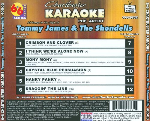 Karaoke: Tommy James and the Shondells