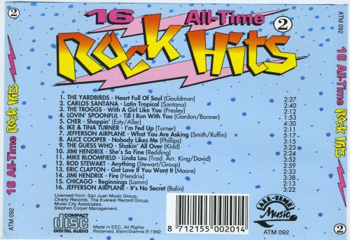 16 All-Time Rockhits, Vol. 2