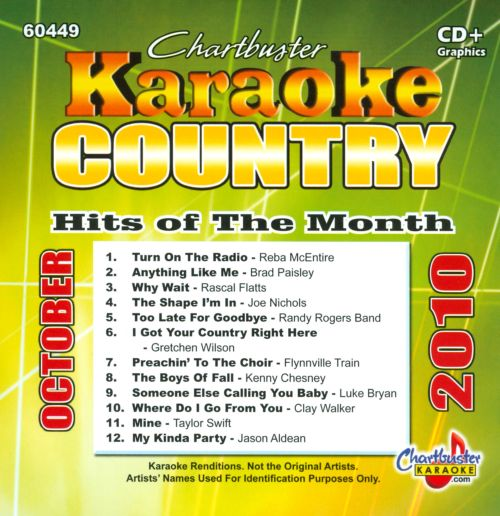 Karaoke: Country Hits of the Month - October 2010