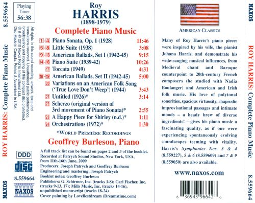 Roy Harris: Complete Piano Music