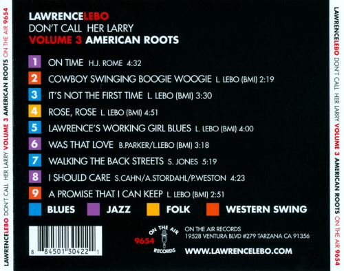 Don't Call Her Larry, Vol. 3: American Roots