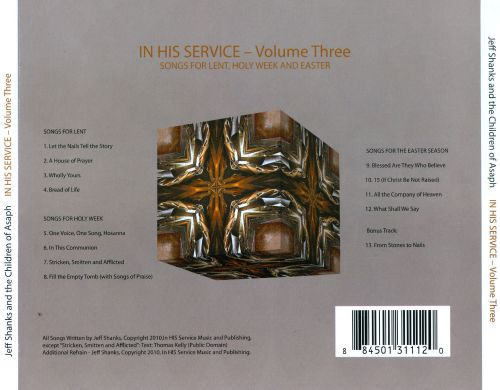 In His Service, Vol. 3: Songs For Lent, Holy Week And Easter