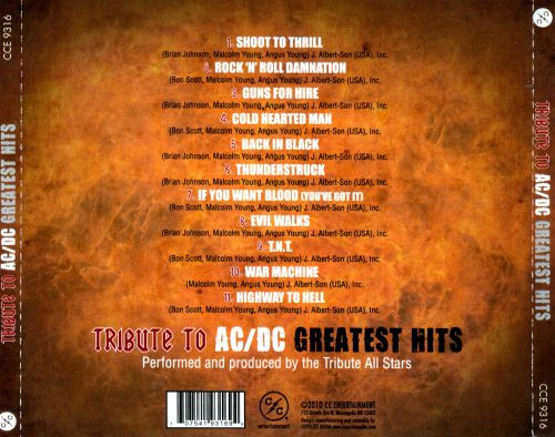 tribute to ac dc greatest hits various artists songs reviews credits allmusic. Black Bedroom Furniture Sets. Home Design Ideas