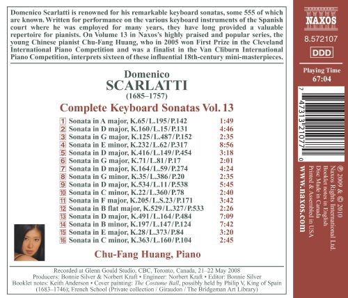 Domenico Scarlatti: Complete Keyboard Sonatas, Vol. 13