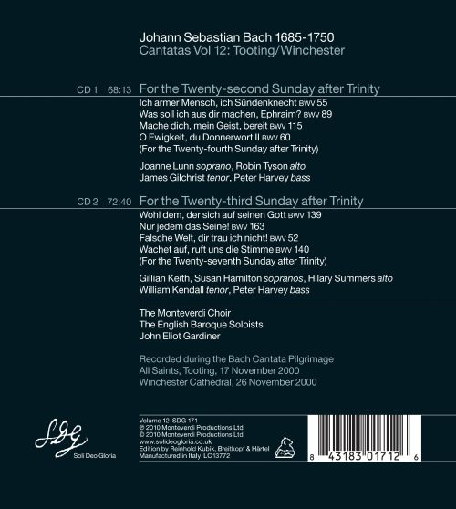 Bach Cantatas, Vol. 12: Tooting/Winchester
