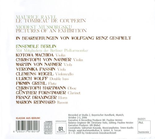 Maurice Ravel: Le Tombeau de Couperin; Modest Mussorgsky: Pictures of an Exhibition