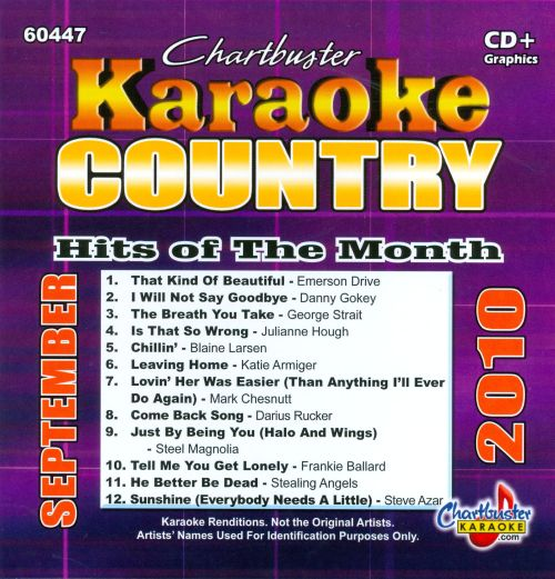 Chartbuster Karaoke: Country Hits of the Month, September 2010
