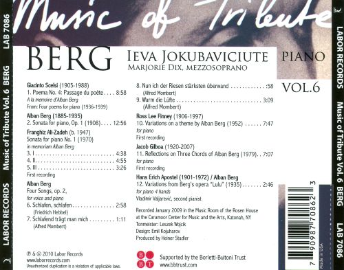 Music of Tribute, Vol. 6: Berg