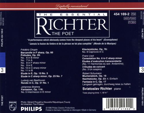 The Essential Richter: The Poet