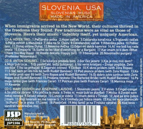 Slovenia, USA: Slovenian Music Made in America