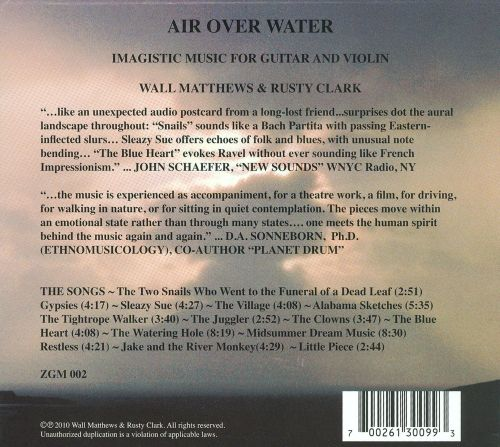 Air Over Water: Imagistic Music For Guitar And Violin