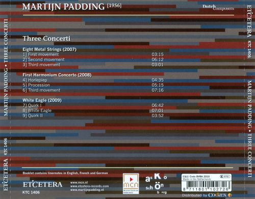 Martijn Padding: Three Concerti
