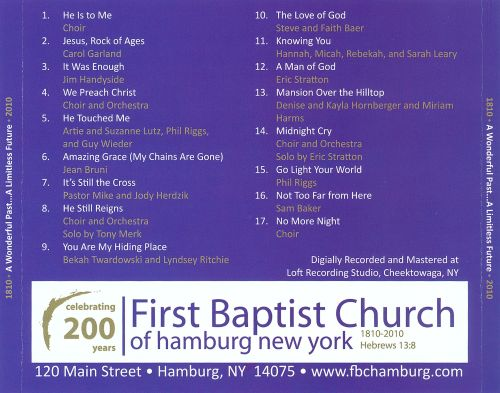 First Baptist Church of Hamburg, New York: Celebrating 200 Years