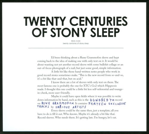 Twenty Centuries of Stony Sleep
