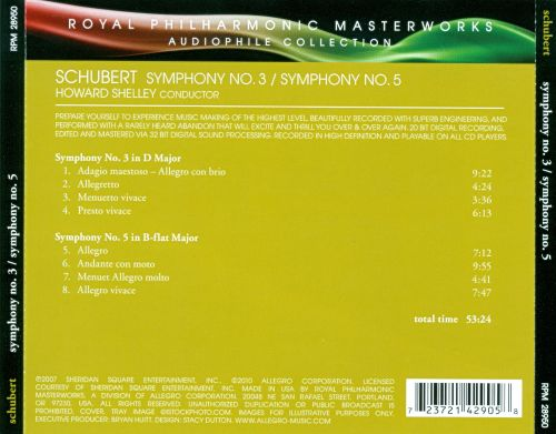 The Royal Philharmonic Collection - Schubert: Symphonies 3 & 5