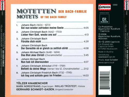 Motets of the Bach Family