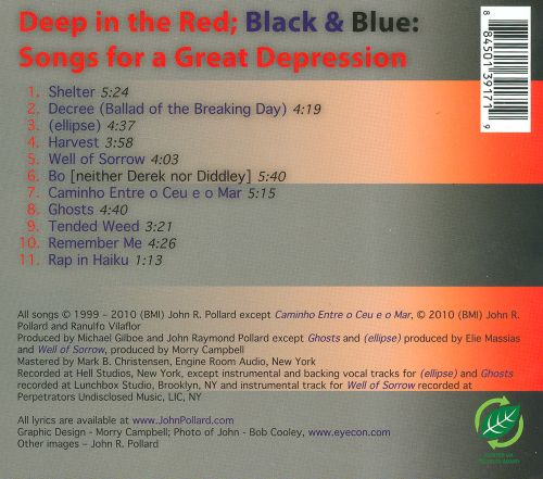 Deep In the Red; Black & Blue: Songs For a Great Depression