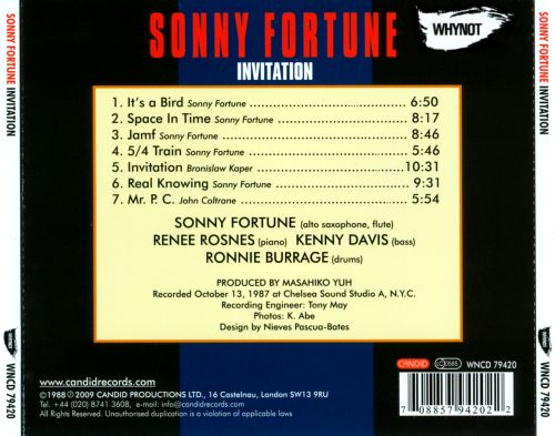 Invitation sonny fortune songs reviews credits allmusic discography browser stopboris Image collections