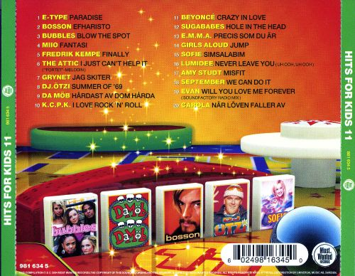 hits for kids 20