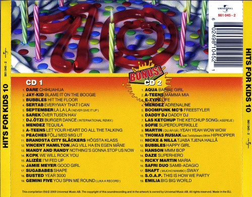 Hits for Kids, Vol. 10