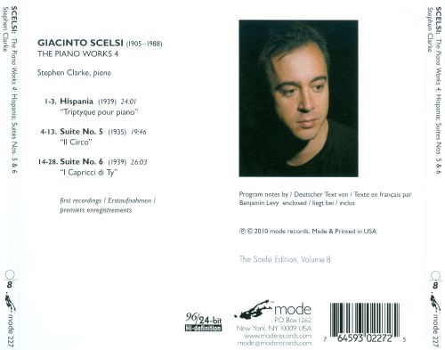 Giacinto Scelsi: The Piano Works, Vol. 4