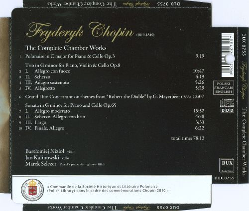 Fryderyk Chopin: The Complete Chamber Works