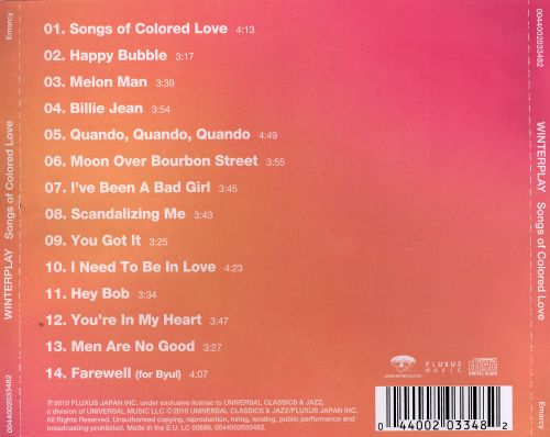 Songs of Colored Love