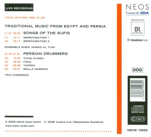 Musica Viva Festival 2008, Vol. 6: Traditional Music from Egypt and Persia