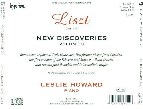 Liszt: New Discoveries, Vol. 3
