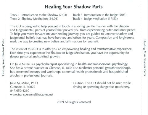 Healing Your Shadow Parts