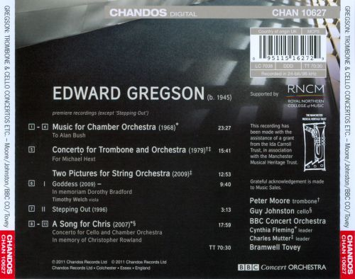 Edward Gregson: A Song for Chris; Trombone Concerto; Music for Chamber Orchestra
